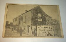 Rare Antique Advertising Whitney's Oldest US House Trade Card! St. Augustine, FL