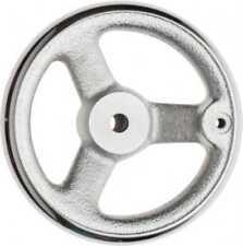 "Cast Iron 3 Spoke Straight Handwheel 1.8/"" Hub Gibraltar 8/"" Chrome Plated F..."