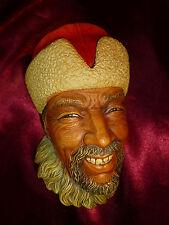 BOSSONS Himalayan Character Head -Mask Chalkware Figure Retro Kitsch Pub Vintage