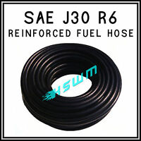 RUBBER REINFORCED FUEL HOSE COTTON BRAIDED PETROL OIL DIESEL PIPE TUBE SAE J NEW