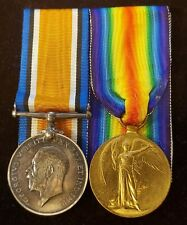 WWI Pair to 283103 PRIVATE C.H. WALLACE. C.F.C & 219th BATTALION CEF (C43)