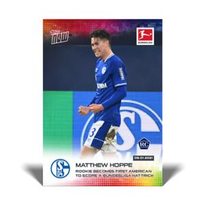 2020 2021 card #86 Topps Now Bundesliga MATTHEW HOPPE - FC SHALKE 04