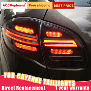 For Porsche Cayenne LED Taillights Assembly Dark LED Rear Lamps 2011-2014