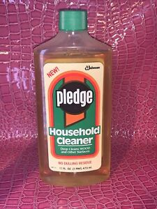Vintage 1991 Pledge Household Wood Cleaner Products (Collector) 16 fl Oz.