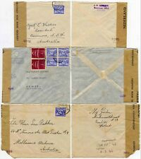 NETHERLANDS to AUSTRALIA CENSORED 2291 5129 4075 WW2...3 COVERS
