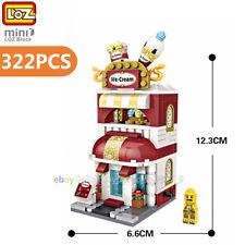 Loz Mini Blocks Diy Kids Adult Building Toys City Street Ice Cream Shop View