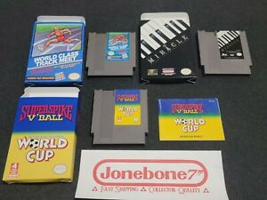 NES Nintendo MIRACLE PIANO / World Class Track Meet / Superspike World Cup CIB