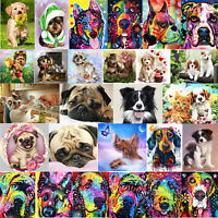 5D DIY Diamond Painting Colorful Dog Cross Stitch Embroidery Mosaic Craft Home