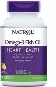 Omega-3 Fish Oil by Natrol, 90 softgels 1000 mg 1 pack