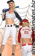 NIB Sexy Baseball Player Sports Halloween Costume BLUE szS/M