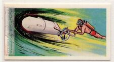 Underwater Scooter Floating Power Unit SCUBA  Vintage Trade Ad Card