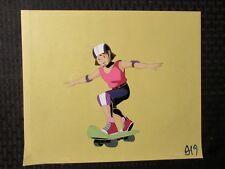 """GI JOE Cartoon 12.5x10.5"""" Animation Production Cel FVF 7.0 Skateboard Girl A-19"""