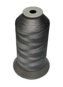 (0,01€/m) Sattlergarn Zwirn 14x2x3 Polyester 1000m grau-schwarz Ø 0,3mm (5126)