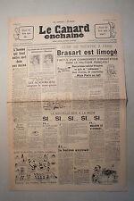 ANCIEN JOURNAL -  LE CANARD ENCHAINE N° 1481 DU 9 MARS 1949 *