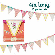 VINTAGE FLORAL WEDDING BUNTING Hen Party / Afternoon Tea Bunting Banner Garland