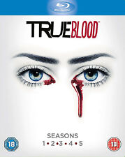 TRUE BLOOD Complete Series Collection 1-5 Blu Ray Season 1 2 3 4 5 UK Rel RB