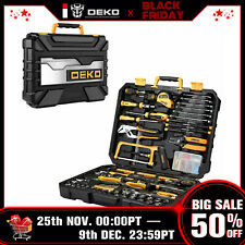 DEKO 198 PCS General Household Hand Tool Set Home Repair Tool Kit Tool Set