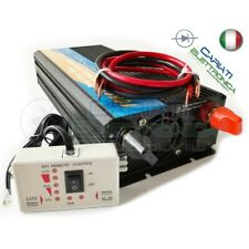 POWER INVERTER 1000W MAX 2000W WATT ONDA SINUSOIDALE PURA 12V DC 230V