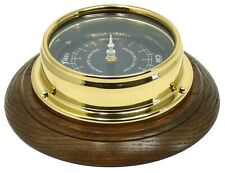 Handmade Prestige Tide Clock With Jet Black Dial Mounted on an English Oak mount