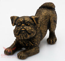 Tin Pewter Figurine of Brussels Griffon Dog IronWork