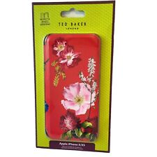 Ted Baker Kormila Red Berry Flower iPhone X XS 10 Full Case Folio Cover Mirror