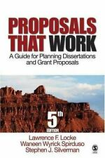 Proposals That Work: A Guide for Planning Dissertations and Grant Proposals, , V
