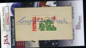 Elroy Hirsch JSA Coa Hand Signed 1969 Football Stamp Display Autograph