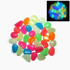 10Pcs Beauty Fish Tank Aquarium Decoration Artificial Luminous Pebble Stone
