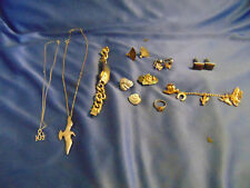 Ladies necklaces earrings watch cuff links pin Western tie tack ring jewelry lot