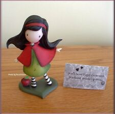 "LITTLE RED FIGURINE BY SANTORO GORJUSS 4"" IN GIFT BOX FREE U. S. SHIPPING"