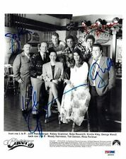 CHEERS Cast Signed Authentic 8x10 Photo 5 Signatures (PSA/DNA) LOA #S09252