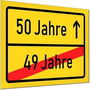 50 Geburtstag Deko Geschenk Verkehrsschild Schild Jubiläum Party