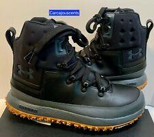 Men's Under Armour Fat Tire Govie Hiking Boots Black Gum Size 8.5  #1299193-003