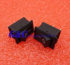 10pcs Black Rocker Switch KCD1-101 250V 6A Boatlike Switch 2PIN 15X21MM