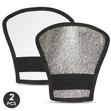 2 x Reversible Flash Diffuser Silver/White Reflector Photography Video Studio