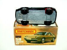 Matchbox Superfast No 59 Porsche 928 Black UNPAINTED BASE MIB RARE