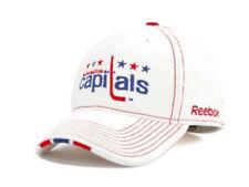 Washington Capitals NHL Winter Classic Vintage Logo White Cotton Hockey Hat Cap