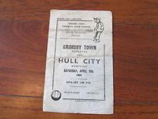 Teams F-K Grimsby Town Football Reserve Fixture Programmes