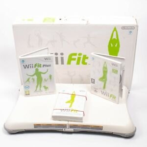 Nintendo Wii Fit & Wii Fit Plus Board And Games - Balance Fitness