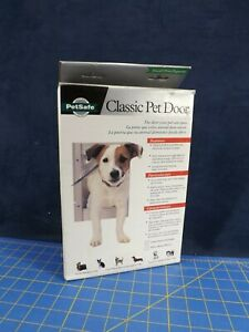 New Open Box Petsafe Classic Pet Door Small 1-12 lbs Satin Aluminum Free Ship