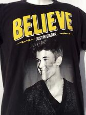 JUSTIN BIEBER 2013 BELIEVE Live NORTH AMERICAN TOUR Concert 2 sided T Shirt sz S