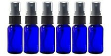 Glass Spray Bottles - 6 Piece 1oz Cobalt Blue Small Glass Bottles Black Sprayer