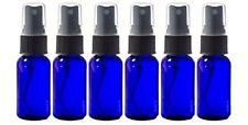 Glass Spray Bottles - 6 Pack  15ml (1/2 oz) Cobalt Blue Black Fine Mist Sprayer