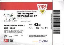 Ticket DFB-Pokal 2007/2008 VfB Stuttgart - SC Paderborn 07, 31.10.2007