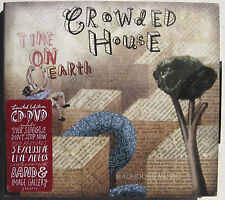 CROWDED HOUSE CD + DVD Time On Earth 2007 Limited Edition SET SEALED w/ 3 LIVE