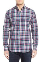 * NWT Bugatchi Shaped Fit Plaid Sport Shirt, NWT, L