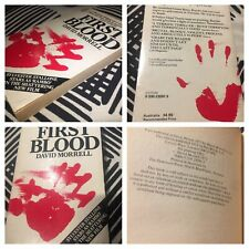 'FIRST BLOOD' By David Morrell Vintage PB (1982) With Stallone Film Ad