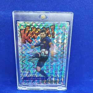 Lionel Messi Kaboom Holo Silver Sticker FC Barcelona Mint