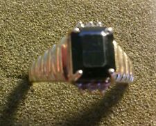 Ladies 14kt Yellow gold ring with Tourmaline and Diamond STONES SZ 7 1/4 ((110))