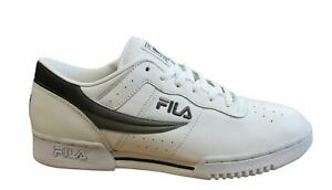 Fila Original Fitness White Leather Lace Up Mens Running Trainers 11F16LX 128